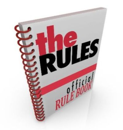 graphic of official rule book
