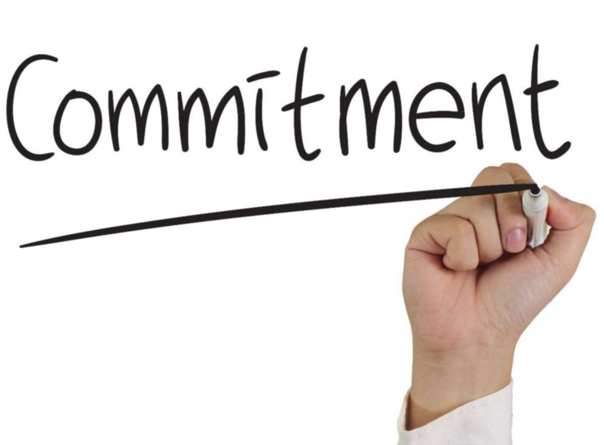 graphic of commitment
