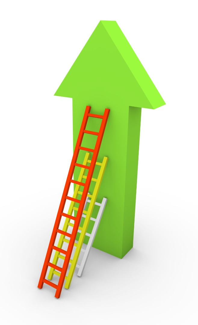 image representing climbing a career ladder